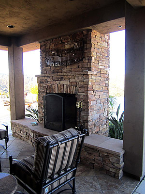 Outdoor Room Fireplace